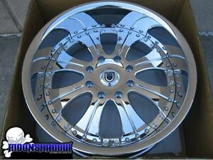 New 22 Asanti Af131 Gm Hummer H2 All Chrome Wheels Rims 4x4 22x10 8x6 5