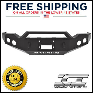 2007 2013 Toyota Tundra Ici Magnum Front Winch Bumper W Rt Series Light Mount