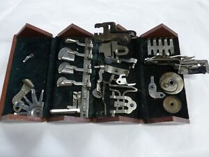 Singer Antique Sewing Machine Puzzle Box And Attachments Accessories 1889