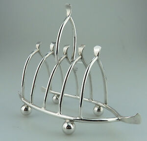 Antique Silver Plate A Pretty Novelty Wishbone Toast Letter Rack C 1890