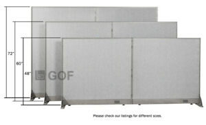 Gof Office Freestanding Partition Panel 120 w X 48 h 120 w X 60 h 120 w X 72 h