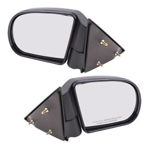 Blazer Hombre Jimmy S10 Pickup Truck Sonoma Set Of Side View Manual Mirrors
