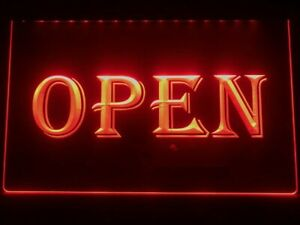Open Neon Light Sign For Shops And Stores