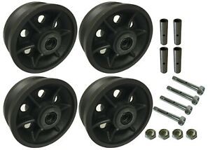4 Heavy Duty Caster Wheels Set 4 5 6 8 V groove Wheel Set With Bearing