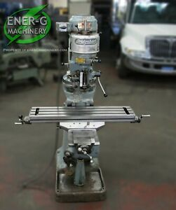 Bridgeport Series J head Vertical Milling Machine 1 Hp 9 X 42 Table Id M 068