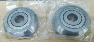 Lot Of 2 New Bishop Wisecarver W4x Bearing Double V Groove Guide Wheel