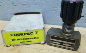 Enerpac Hydraulic Flow Control Sae 4 5 000 Psi Vfc 1 New
