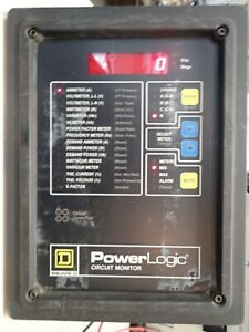 Square D 3020 Cm 2450 Power Logic Circuit Monitor Rs 485 3 Phase