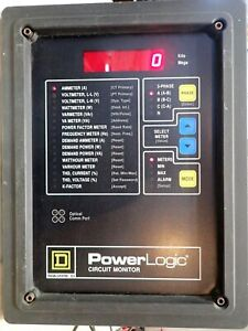 Square D Power Logic Circuit Monitor 3020 cm2050 Rs 485 3 Phase