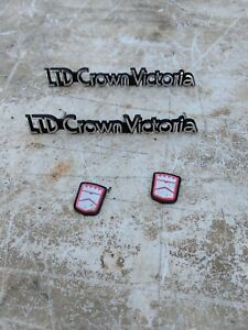 1987 Ltd Crown Victoria Emblem 1988 1989 Ford Rat Rod Man Cave