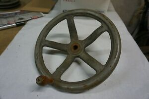 Vintage Cast Iron 12 With A 3 4 Bore Machine Hand Wheel Steampunk Industrial