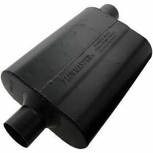 942547 Flowmaster Super 44 Delta Flow Muffler 2 5 Center Inlet Offset Outlet