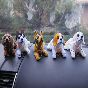 Bobble Head Dog Car Dashboard Home Decor Gift Doll Bobbing Nodding Nodder 1pcs