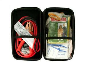 Emergency Roadside Assistance Kit Jumper Cables Headlamp Tools First Aid