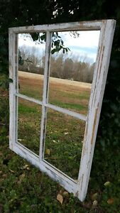 Architectural Salvage 4 Pane Old Window Sash Frame Pinterest Mirror Panes