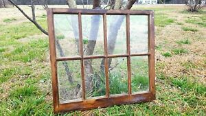 Architectural Salvage Antique Window Frame Panes 8 Pane Small 28 X 31