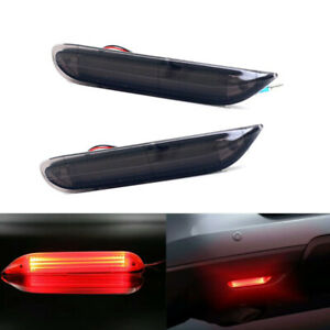 2x Led Rear Bumper Brake Tail Light For Nissan X trail Rouge Qashqai Pathfinder
