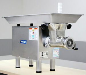 Commercial 22 Butcher Meat Grinder 2hp 220 V 1 Ph Stainless Head Ring