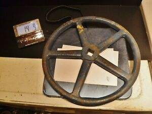 14 Cast Iron Valve Hand Wheel Lamp Base Industrial Pulley Salvage Steampunk