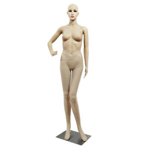 Female male Full Body Realistic Mannequin Display Head Turns Dress Form W base
