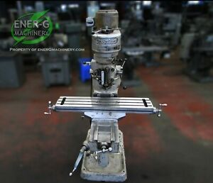 Bridgeport Series J head Vertical Milling Machine 1 Hp 9 X 42 Table Id M 067