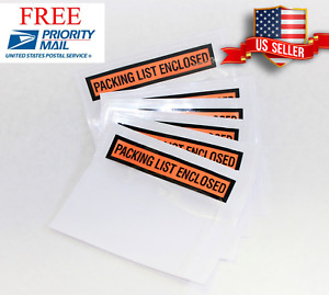 1000 2000 10000 Packing List Enclosed Slip Holder Envelope 4 1 2 X 5 1 2 Pouch