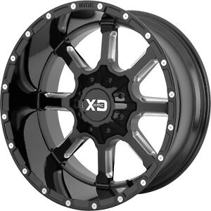 20x12 Black Milled Xd838 5x5 5 5x150 44 Rims Open Country Mt 35 Tires