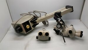 Cabot Medical 3001n Stereoscopic Zoom System With 2 Nikon Smz 1 Microscope Heads
