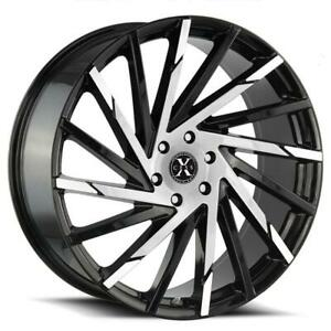 26 Inch 26x10 Xcess X02 Black Machined Wheel Rim 5x115 15
