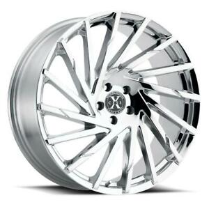 26 Inch 26x10 Xcess X02 Chrome Wheel Rim 5x120 25