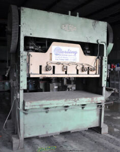 150 Tons X 10 Used Chicago Straight Side Double Crank Punch Press A1968