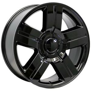 26 Inch 26x10 Replica Texas Edition Gloss Black Wheel Rim Blank 15