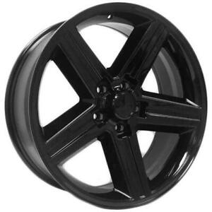 22 Inch 22x9 Replica Iroc Gloss Black Wheel Rim 5x4 75 5x120 65 10