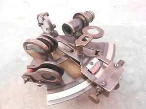 Nautical Antique Vintage Brass Collectible Working Sextant Kelvin