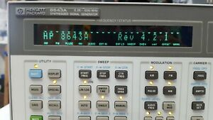 Hp 8643a Rev 4 2 1 Opt 001 Synthesized Signal Generator r1s 1 7