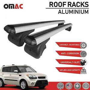 Roof Rack Cross Bars Luggage Carrier Silver For Kia Soul 2010 2018