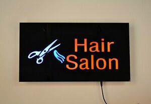 Led Neon Light Hair Salon Business Sign With Remote Control