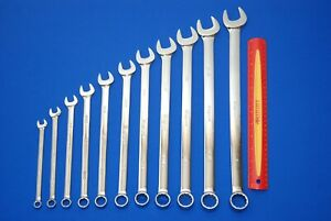 New Snap On 11 Piece 12 Point Sae Long Combination Wrench Set Oexl Ships Free