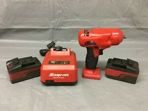 Snap On 18v Lithium Ion 3 8 Impact Wrench Drill With 2x Battery