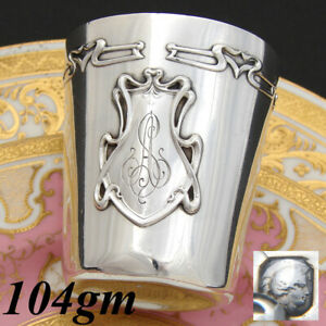 Antique French Sterling Silver Art Nouveau Wine Or Mint Julep Cup Tumbler As