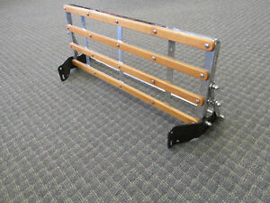 1928 1931 Ford Model A Coupe Sedan Stainless Luggage Rack With Wood Strips Nice