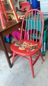 Antique S Bent Bros Spindle Dining Chair Hand Painted In Excellent Condition