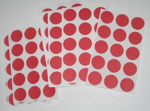 765 Blank Yard Sale Garage Rummage Stickers Price Labels Red see My Other Items