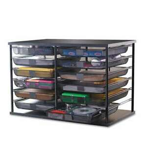 Rubbermaid 12 compartment Organizer With Mesh Drawers 23 8 X 15 9 X 15 4