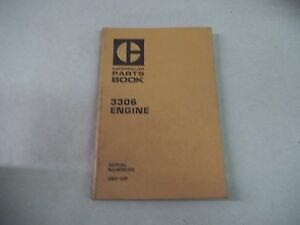 Caterpillar Tractor 3306 Engine Parts Book Serial No 3n1 Up