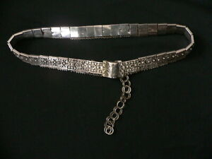 Antique 19th Century Imperial Russia Baku Silver Belt