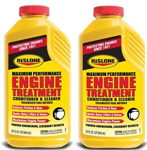Rislone Engine Treatment Conditioner Cleaner For Car Truck 32 Oz 2 Bottles
