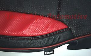 2014 2015 Sierra Crew Cab Sle Katzkin Leather Seat Covers Lt Red Black Custom