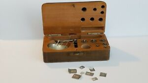 Antique Small Hand Held Jeweler Balance Scale W All The Diamond