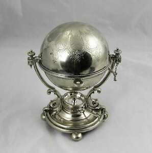 Vintage English Silver Plate Domed Egg Coddler Sever With Insert